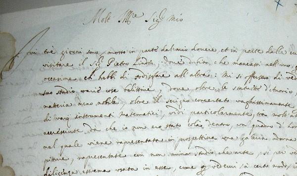 Giovanni Battista Caravaggio, letter to Muzio Oddi, 1629